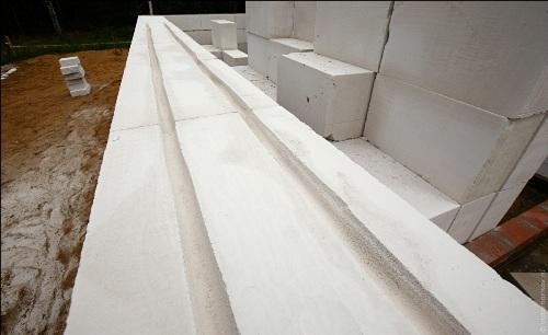 канавки для армирования газасиликатных блоков
